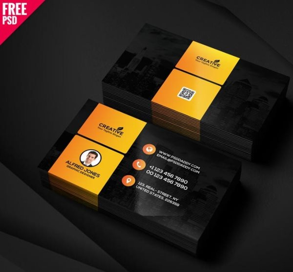 free graphic designer business card psd template