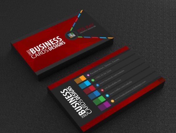 free business card PSD template for Photoshop