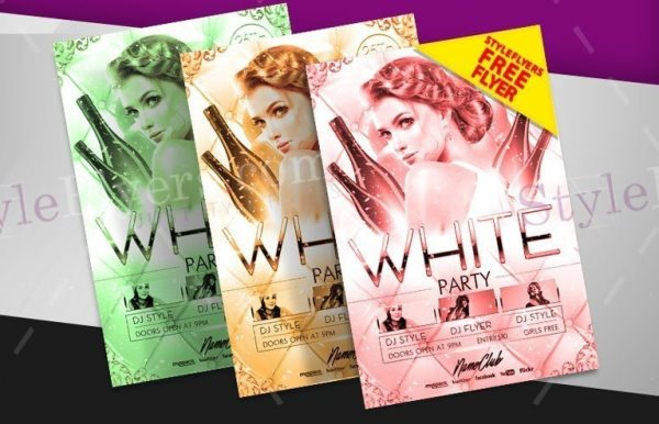 white party flyer psd