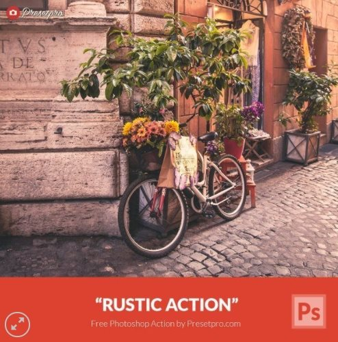 rustic Photoshop action