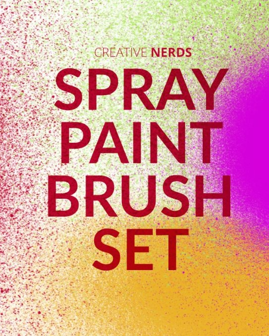 spray paint brush set