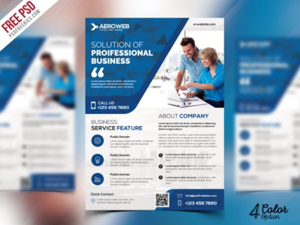 free corporate flyer templates psd
