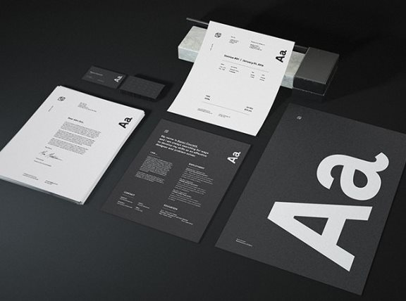 granite stationery mockup