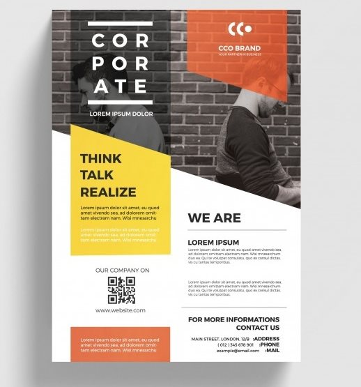 modern corporate flyer psd template