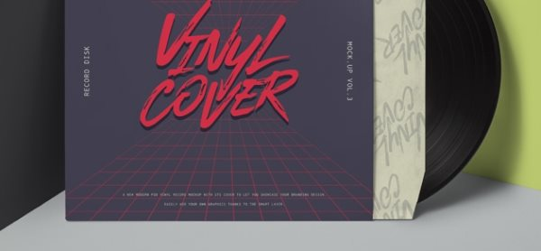 vinyl record cover psd