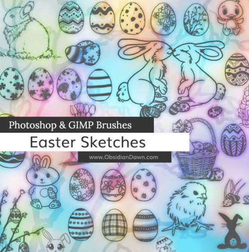 Easter sketch brushes