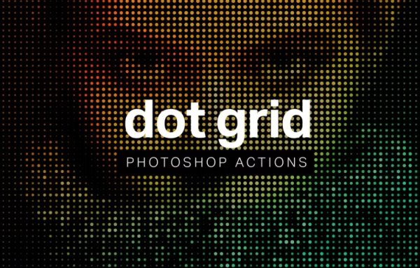 free dot grid Photoshop action