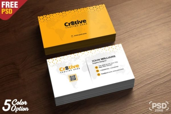 business card photoshop template free