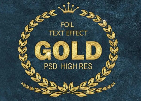 gold foil text effect