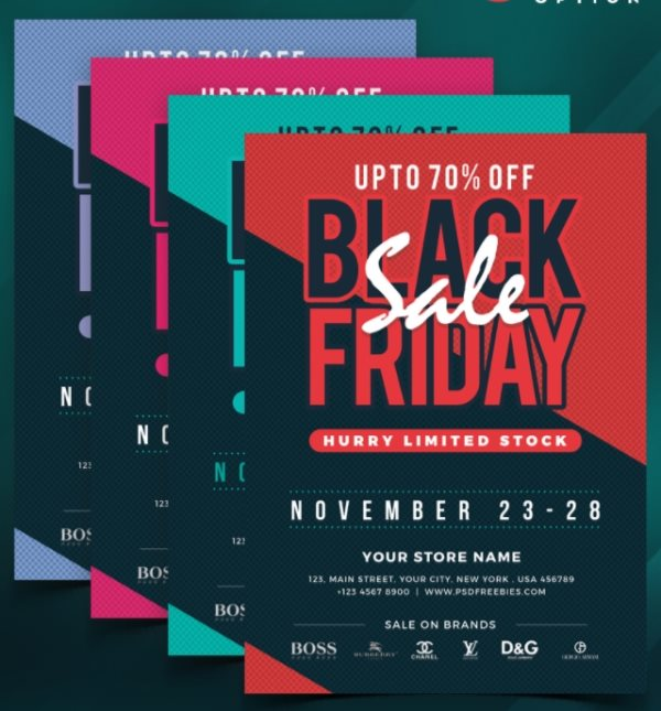 free black friday sales flyer template mockup