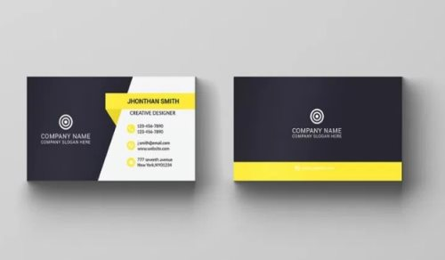 corporate business card template photoshop free psd