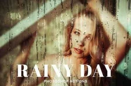 free rainy day Photoshop actions