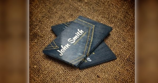 denim business card