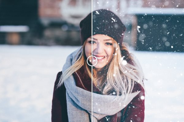 free snow Photoshop action