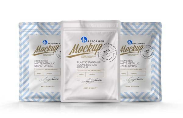 pouch packaging free psd