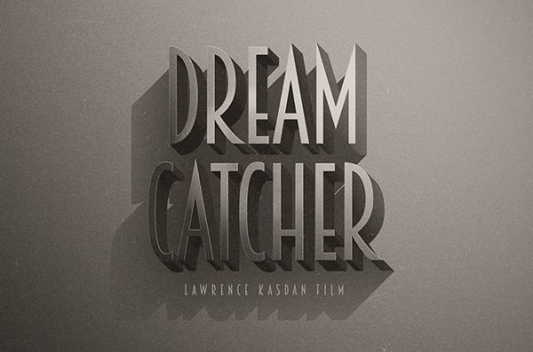 cinematic retro Photoshop text effects