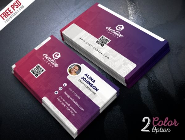 free business card photoshop template psd
