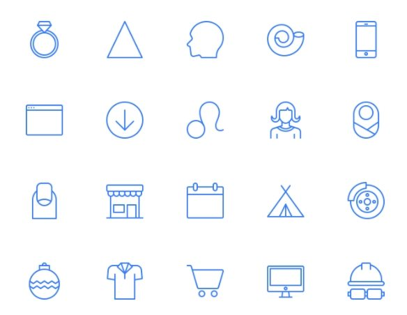 free sleek icon set