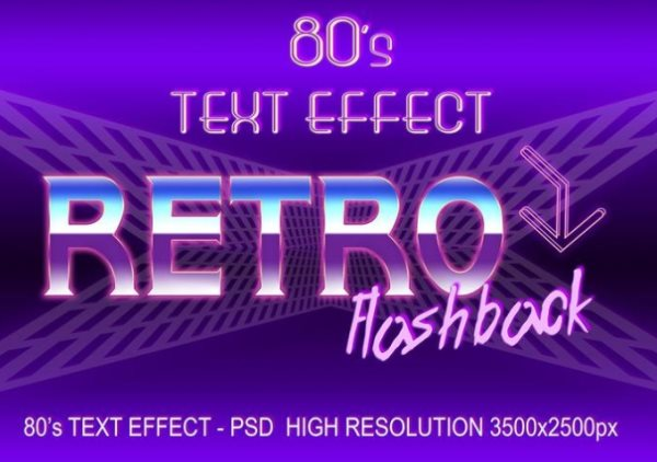 80's Photoshop text effect