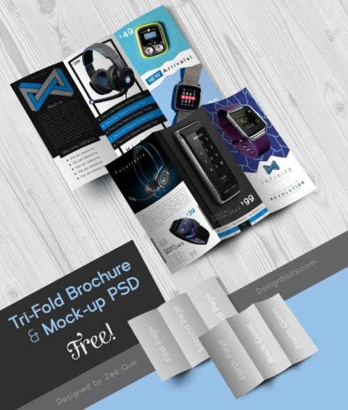 tech gadgets brochure psd template photoshop free
