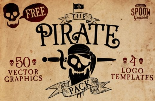 free pirate graphics psd