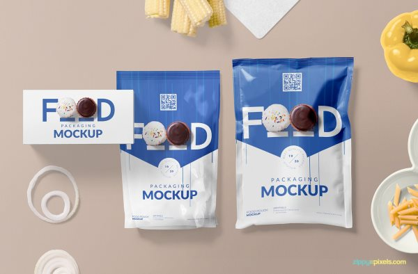 free food packaging psd