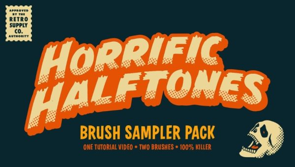 free halftones brush