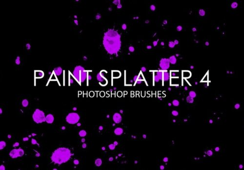 paint splatter brush