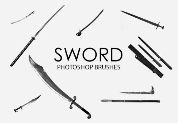 sword Photoshop free brushes