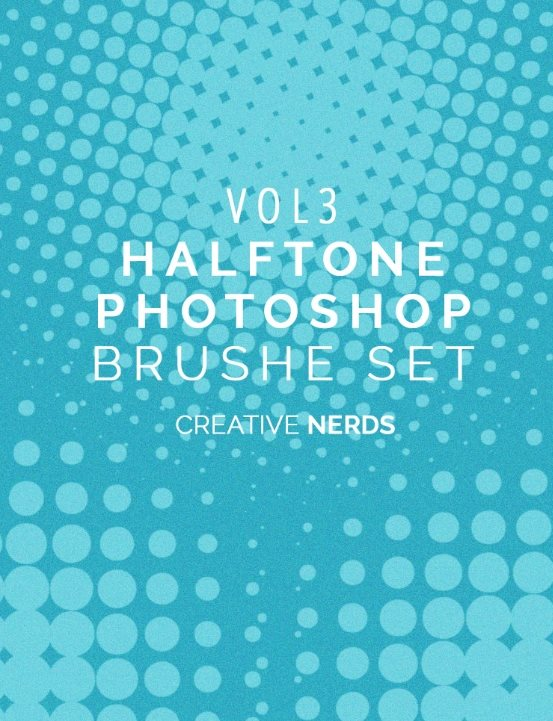 free halftone brush set