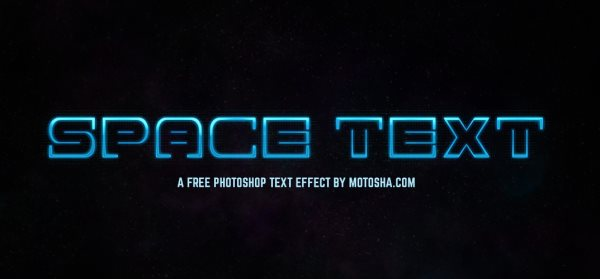 free space text effect for Photoshop