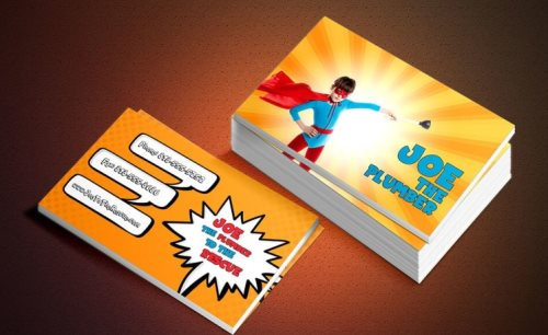super hero business cards psd photoshop template