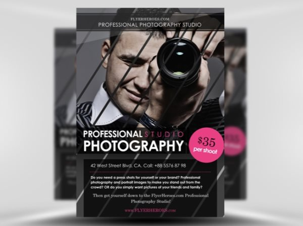 photography flyer free psd
