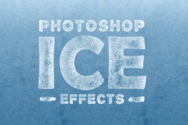 free Photoshop ice effects PSD