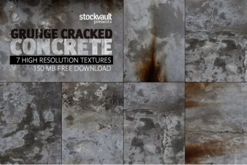 cracked concrete textures