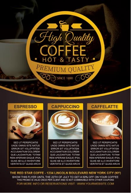 free coffee flyer psd
