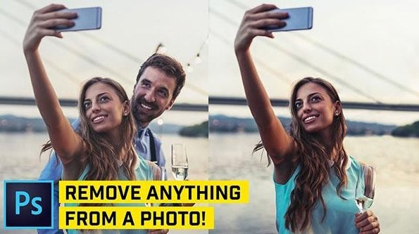 remove anything from Photoshop