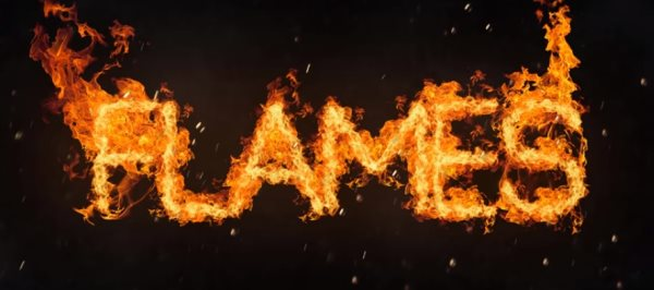 flame text photoshop tutorial