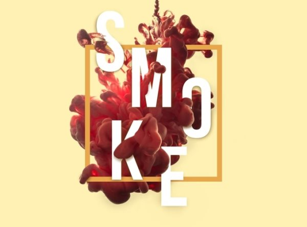 smoke liquid ink text effect tutorial
