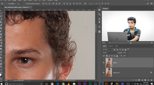 how to trim hair in photoshop