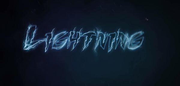 lightning text effect Photoshop tutorial