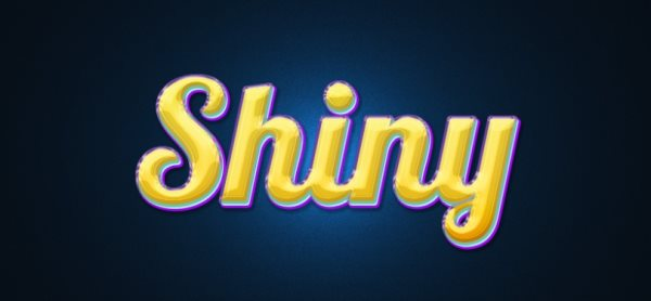 shiny text effect Photoshop tutorial