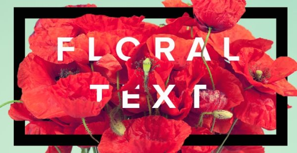 floral typography tutorial