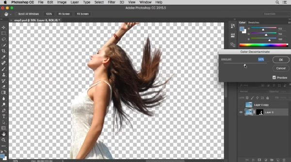 how to cut out hair with photoshop
