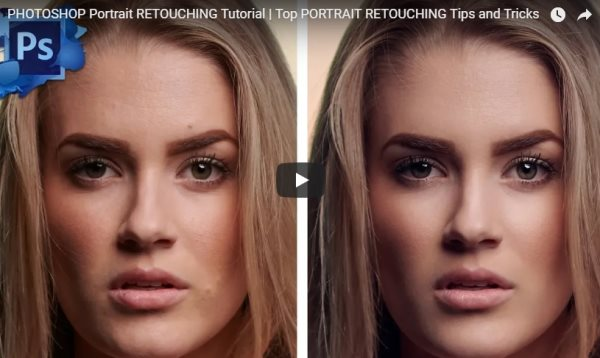 Photoshop portrait retouching tutorial