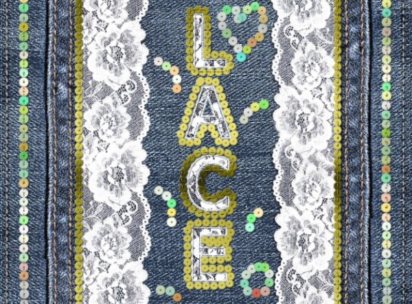 lace embroidery text effect tutorial