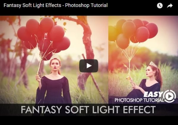fantasy soft light effects photoshop tutorial