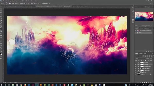 dramatic cloud painting tutorial photoshop