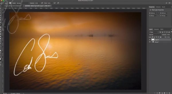 signature watermark photoshop tutorial