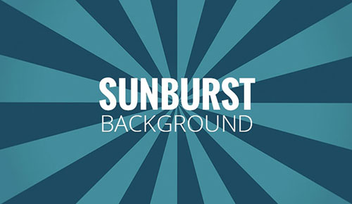 how to create a sunburst background with Photoshop